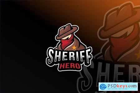 Sheriff Hero Esport Logo Template