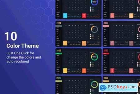 Rosnat – 2020 PowerPoint Calendar Template
