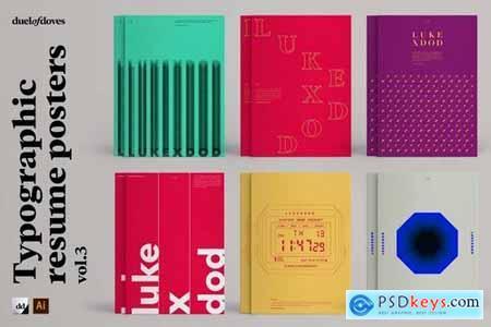 Typographic resume posters - vol. 3