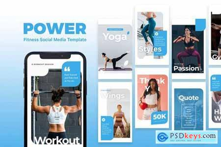Power - Fitness Instagram Story Template