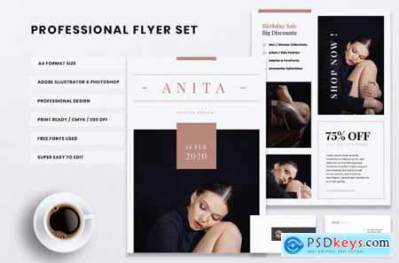 ANITA Fashion Store Flyer & Business Card