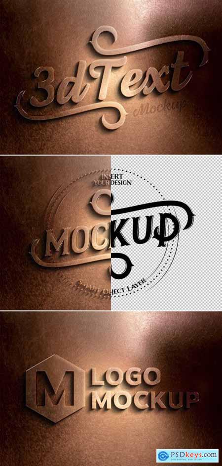 Copper Metal Text Effect Mockup 320457771
