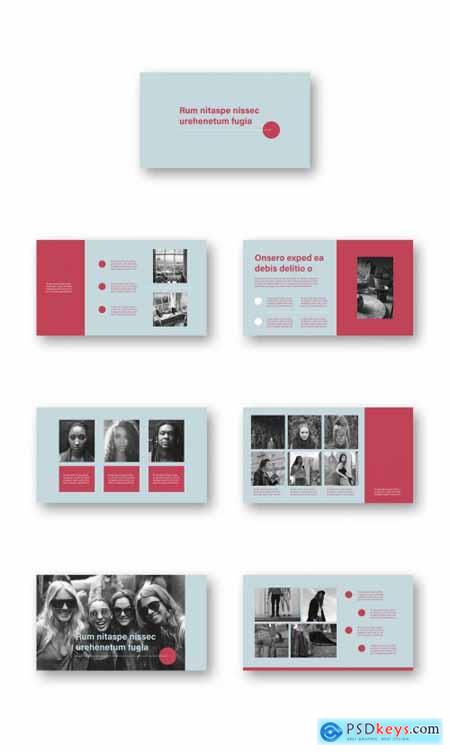 Red and Teal Portfolio Presentation Layout 320645505