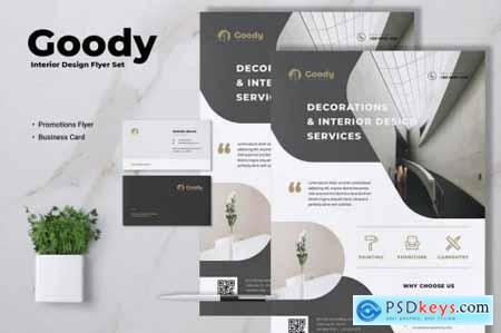 GOODY Interior Design Flyer & Business Card