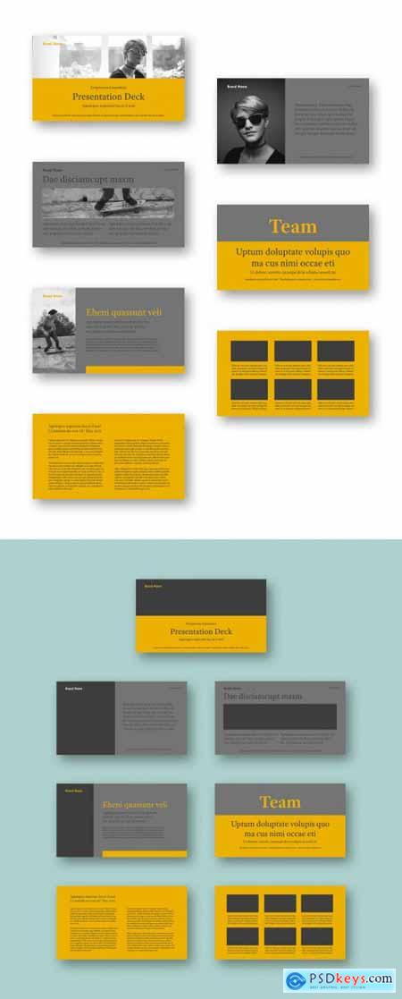 Yellow and Gray Pitch Deck Layout 320645510