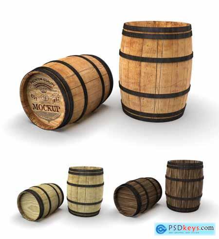 Wooden Barrel Mockup 320624702