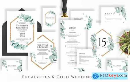 Eucalyptus & Gold Wedding Suite