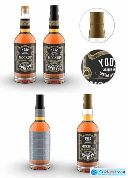 Vintage Style Whiskey Bottle Mockup 320624748