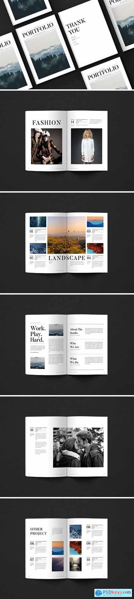 Newspaper Portfolio Brochure 4532598