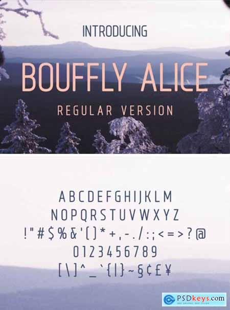 Bouffly Alice Font ( Bold,Light,Thin)