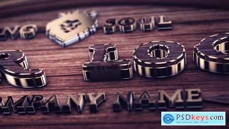 Videohive Wood And Gold Logo 23593313