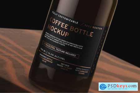 32oz Boston Coffee Bottle Mockup 4474070