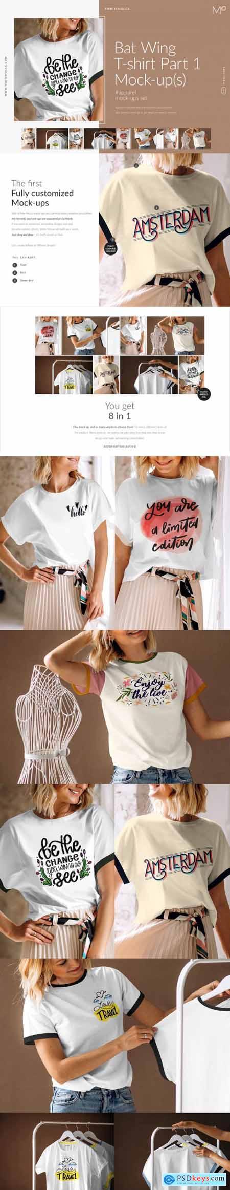 Bat Wing T-shirt Part 1 Mock-ups Set 4468912