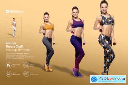 Female Fitness Outfit Mockup 4277495
