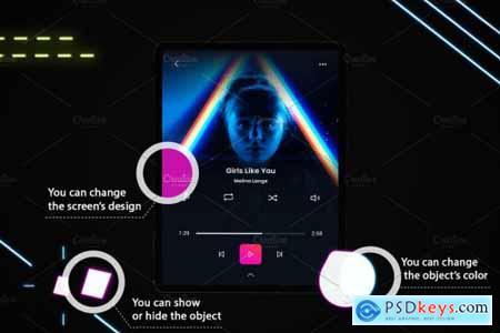 Neon iPad Pro Mockup 4241467