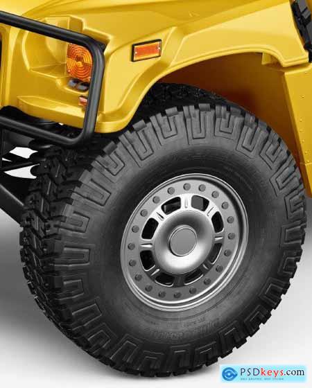 Off-Road SUV Mockup - Half Side View 55247
