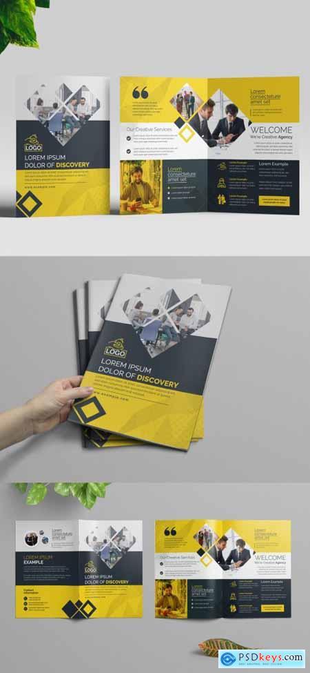 Orange Corporate Bifold Brochure Layout 320837690