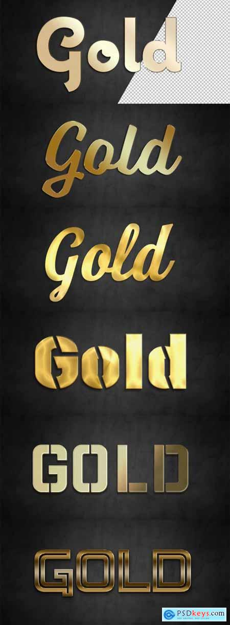 Gold Text Effect Mockup Collection 320831725