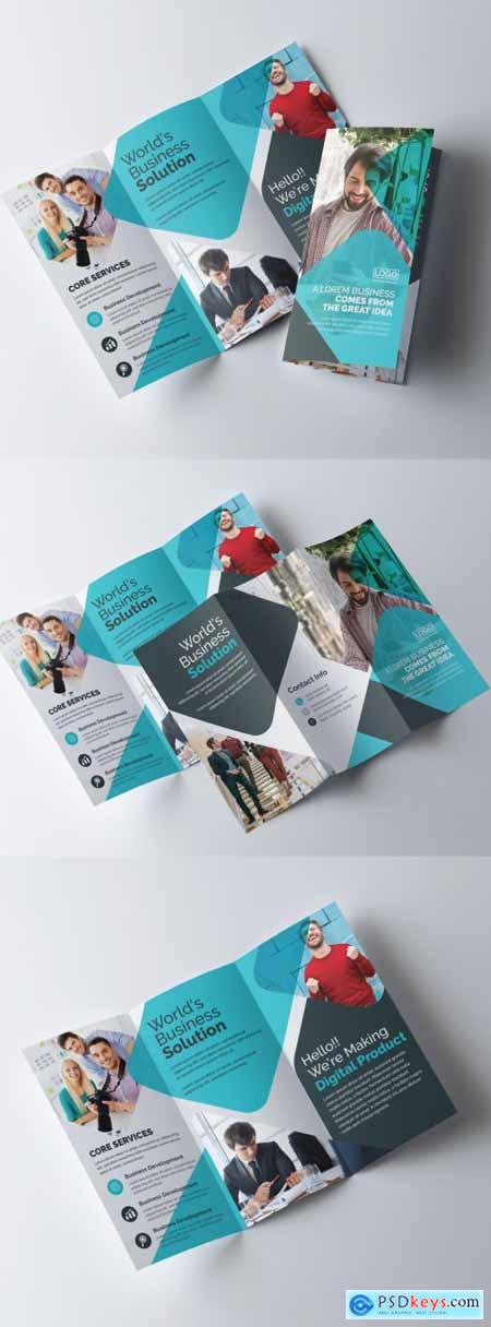 Creative Trifold Brochure Layout 320837732