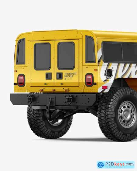 Off-Road SUV Mockup - Back Half Side 55245