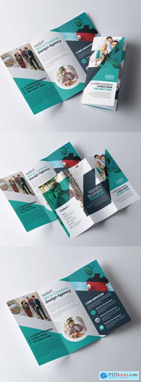 Corporate Trifold Brochure Layout 320837767
