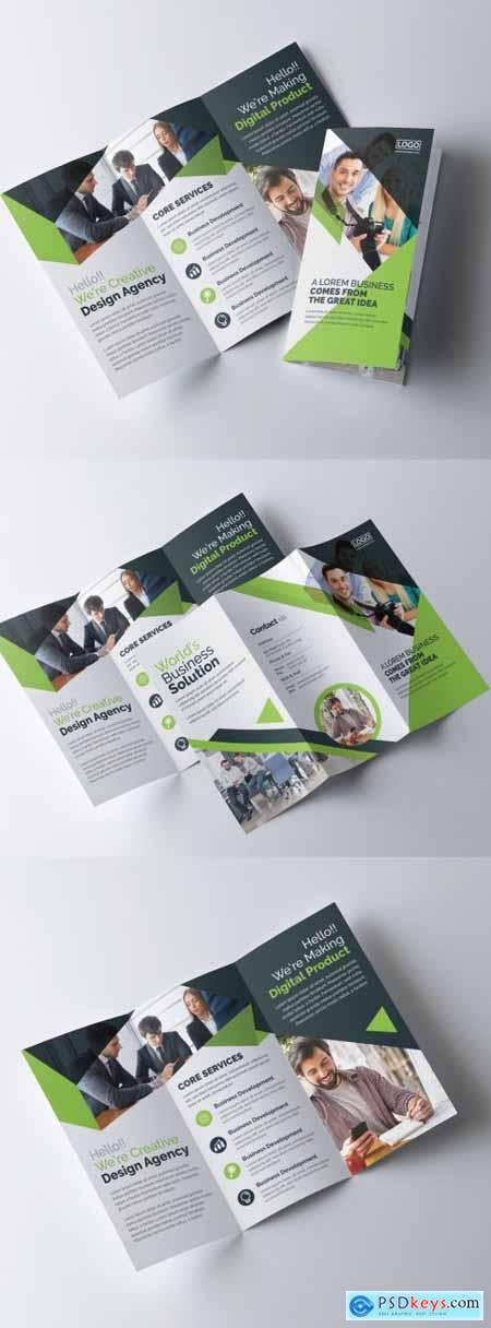 Green Corporate Trifold Brochure Layout 320837688