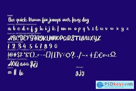 Hiltobe Modernetype Script Font