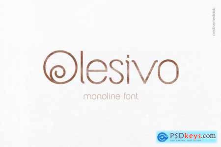 Olesivo Monoline Font
