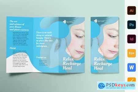 Spa Salon Poster Flyer Business Card Brochure Bifold Trifold