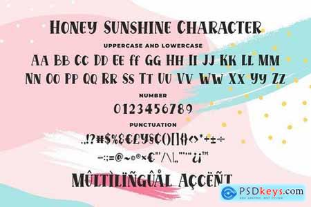 Honey Sunshine - a Quirky Serif Font