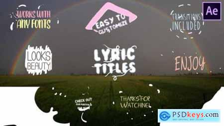 Cartoon Lyric Title After Effects 24535576