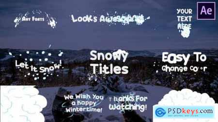 Snow Title After Effects 25400187