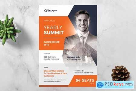 Hexagon Conference Flyer