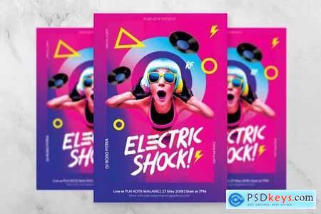 Electric Shock DJ Flyer