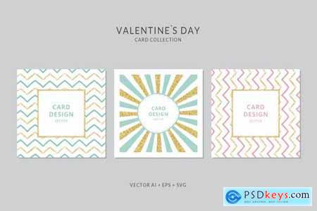 Valentines Day Card Vector Set
