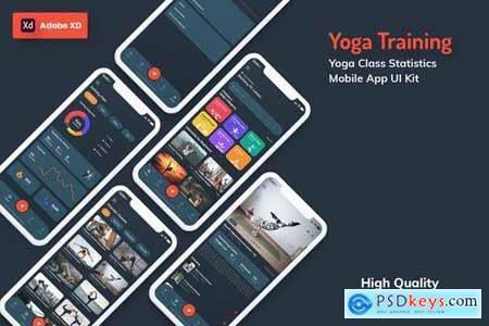 Yoga Class Mobile App Pack