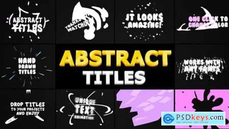 Videohive Abstract Cartoon Titles After Effects 24101415