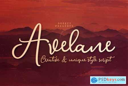 Avelane Script Font 4453749