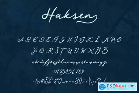 Haksen Script Font 4453769