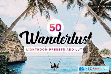 50 Wanderlust Lightroom Presets LUTs