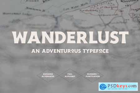 Wanderlust - An Adventurous Typeface 4437625