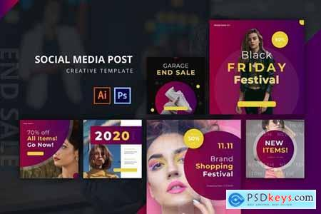 End Sale Social Media Post Template