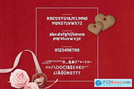Cute Kitty - Decorative Valentine Font
