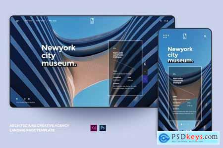 Creative Agency Architecture landing page Template