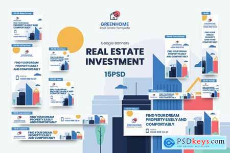 Real Estate Banners Ad PSD Template