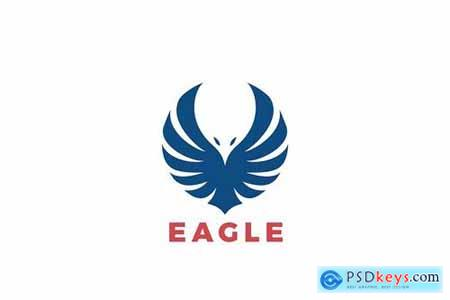 Logo Eagle Wings Flying Soaring Silhouette