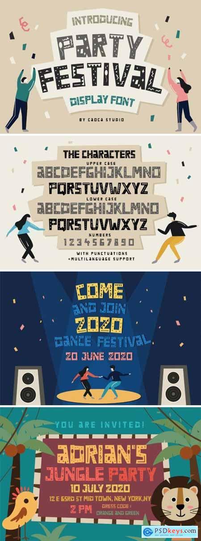 Party Festival Font
