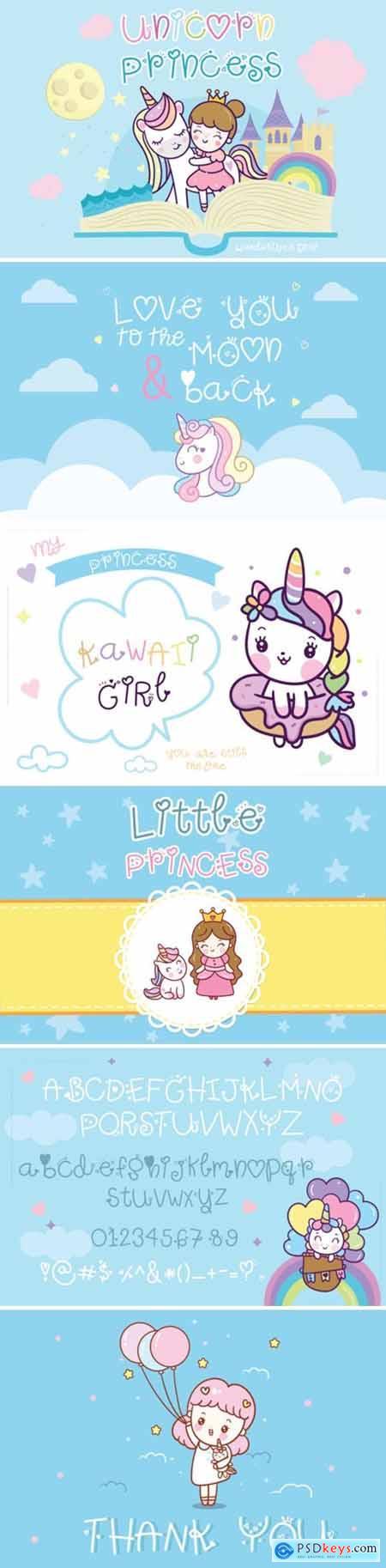 Unicorn Princess Font