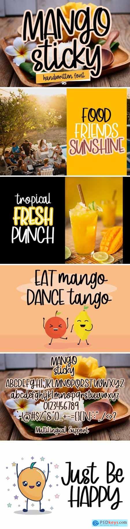 Mango Sticky Font