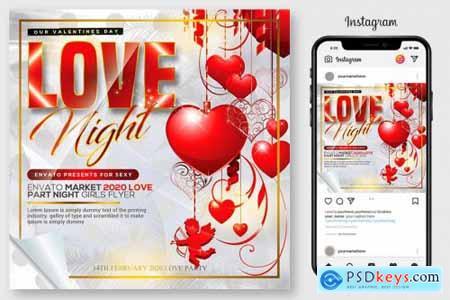 10 Valentines Day Flyers Bundle 4547928